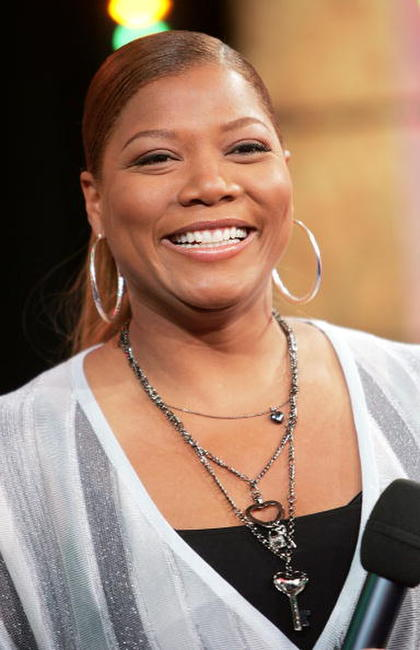 Queen Latifah onstage during MTV's Total Request Live at the MTV Times Square Studios in N.Y.