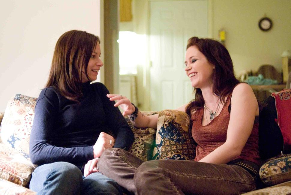 Mary Lynn Rajskub and Emily Blunt in