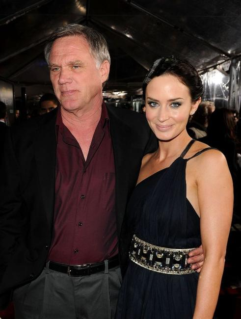 Joe Johnston and Emily Blunt at the California premiere of