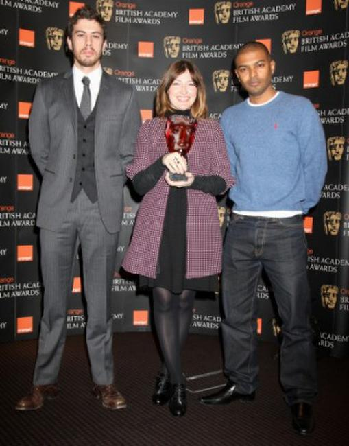 Toby Kebbell, Kelly Macdonald and Noel Clarke at the BAFTA Orange Rising Star Award nomination announcement.