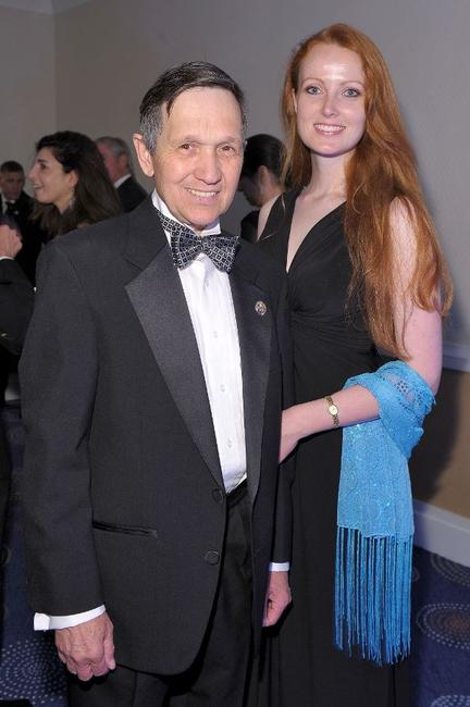 Dennis Kucinich and Elizabeth Kucinich at the Time/CNN/People/Fortune 2010 White House Correspondents dinner pre-party.