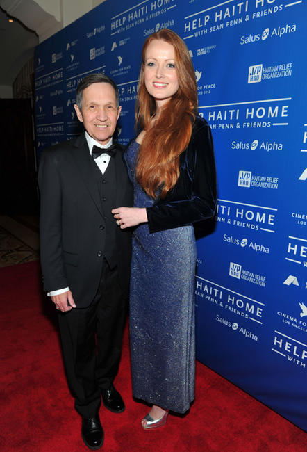 Dennis Kucinich and Elizabeth Kucinich at the Cinema for Peace Event in Los Angeles.