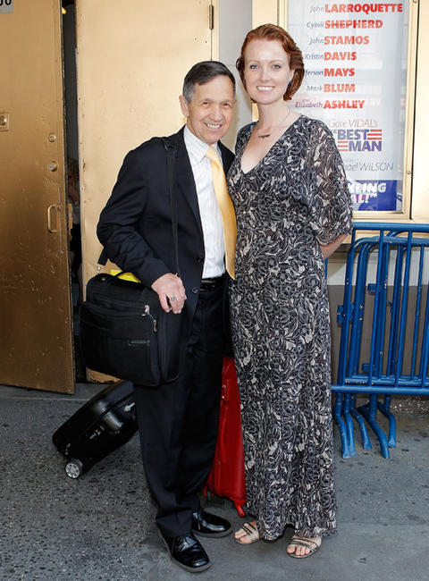 Dennis Kucinich and Elizabeth Kucinich at the Gore Vidal Public Celebration in New York.