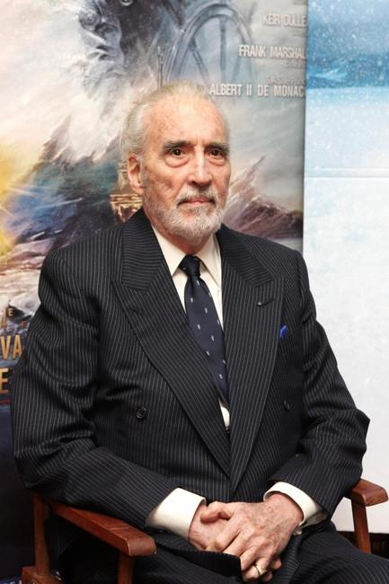 Christopher Lee at the Jules Verne Film Festival.