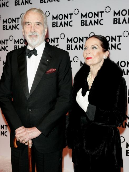 Christopher Lee and his wife Gitte at the Montblanc Night Of The Stars Gala.