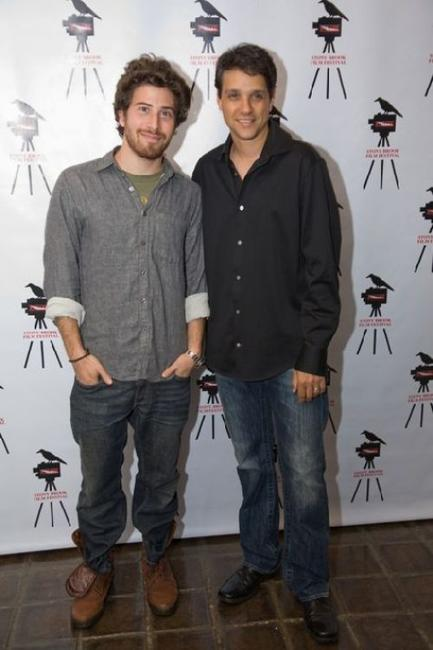 Jake Hoffman and Ralph Macchio at the screening of
