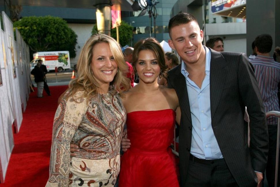 Director Anne Fletcher, Jenna Dewan and Channing Tatum at the premiere of