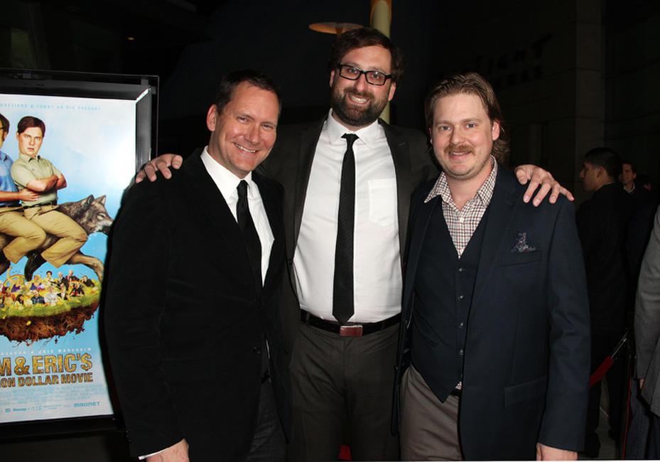 Producer Dave Kneebone, Eric Wareheim and Tim Heidecker at the Los Angeles premiere of
