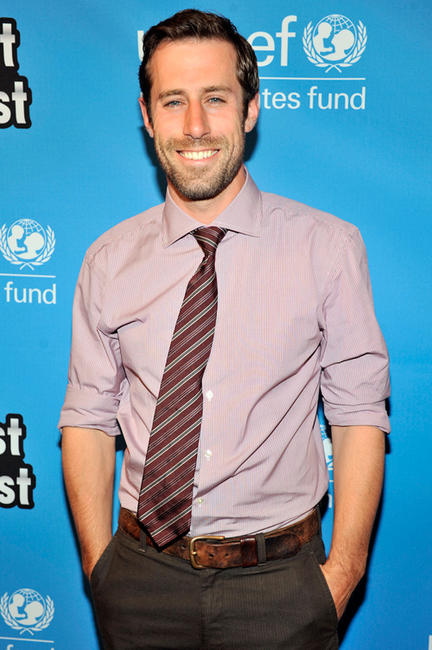 Josh Cooke at the UNICEF Playlist with the A-List Celebrity Karaoke Benefit in California.