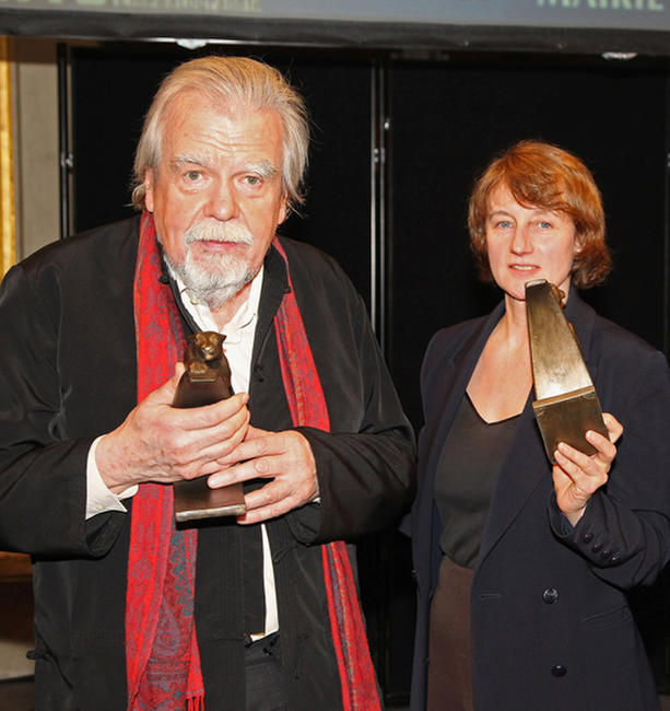 Michel Lonsdale and Caroline Champetier at the 16th Cerememonie Des Lumieres in France.