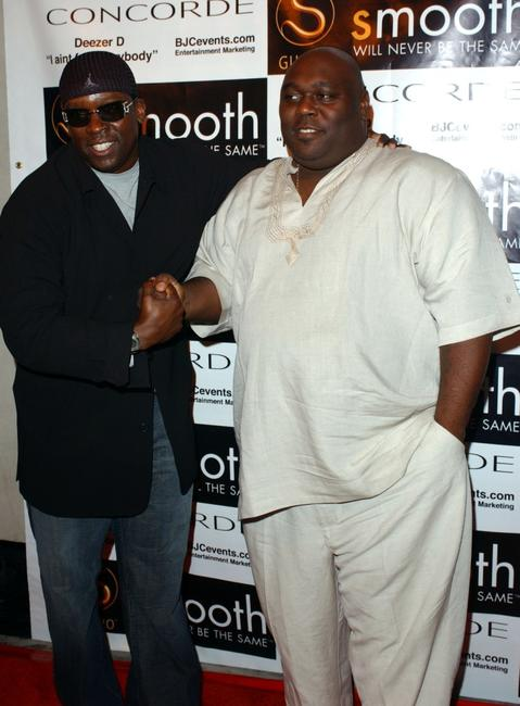 Deezer D and Faizon Love at the private listening party.