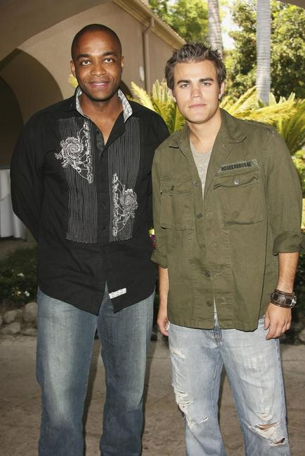 Rick Worthy and Paul Wesley at the 2006 Summer Television Critics Press Tour for the ABC Family/Disney Channel.