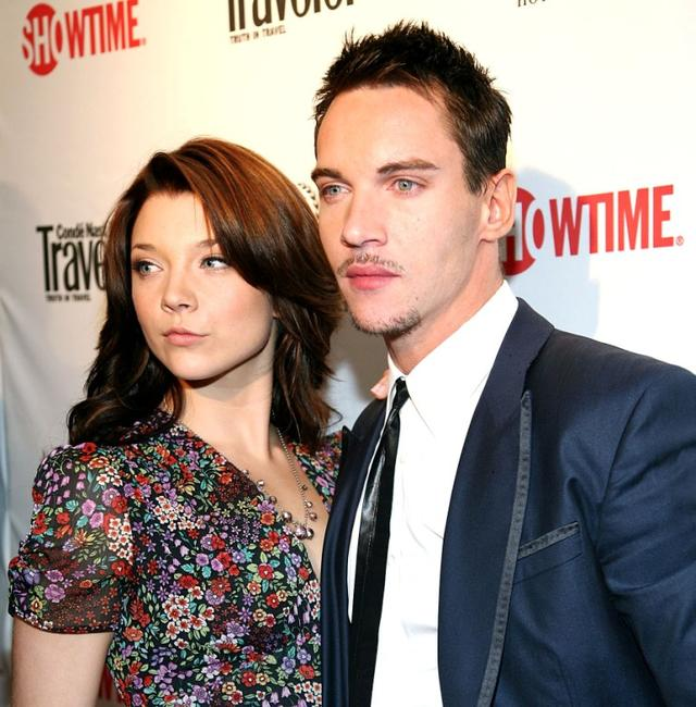 Natalie Dormer and Jonathan Rhys Meyers at the premiere of