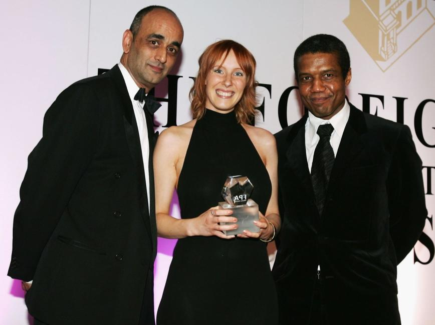 Art Malik, Christine Butler and Hugh Quarshie at the Press Association annual awards.