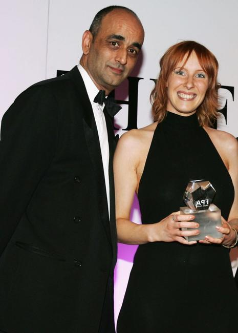 Art Malik and Christine Butler at the Press Association Annual Awards.