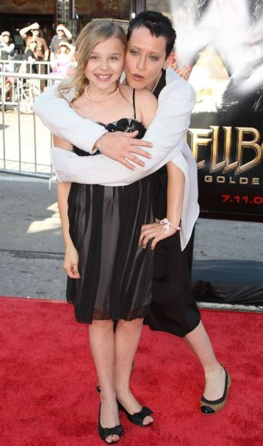 Chloe Grace Moretz and Lori Petty at the premiere of