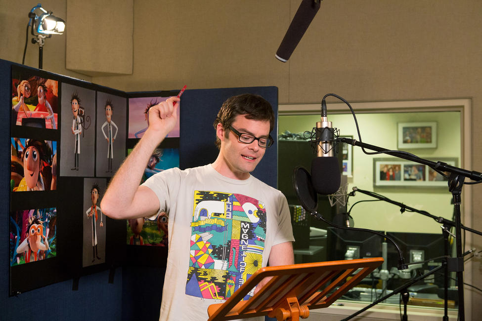 Bill Hader on the set of