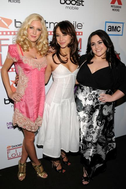 Heidi Montag, Stella Maeve and Nikki Blonsky at the premiere of