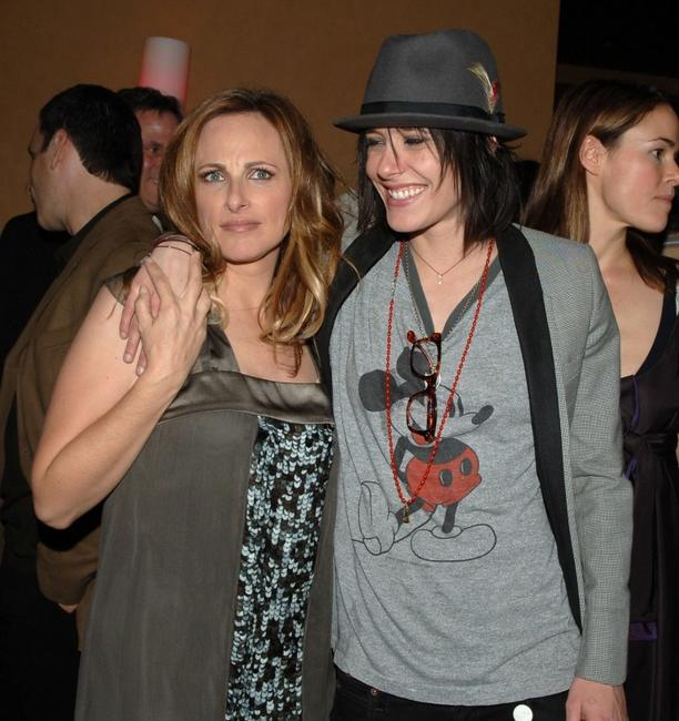 Marlee Matlin and Katherine Moenning at the season 5 premiere party for