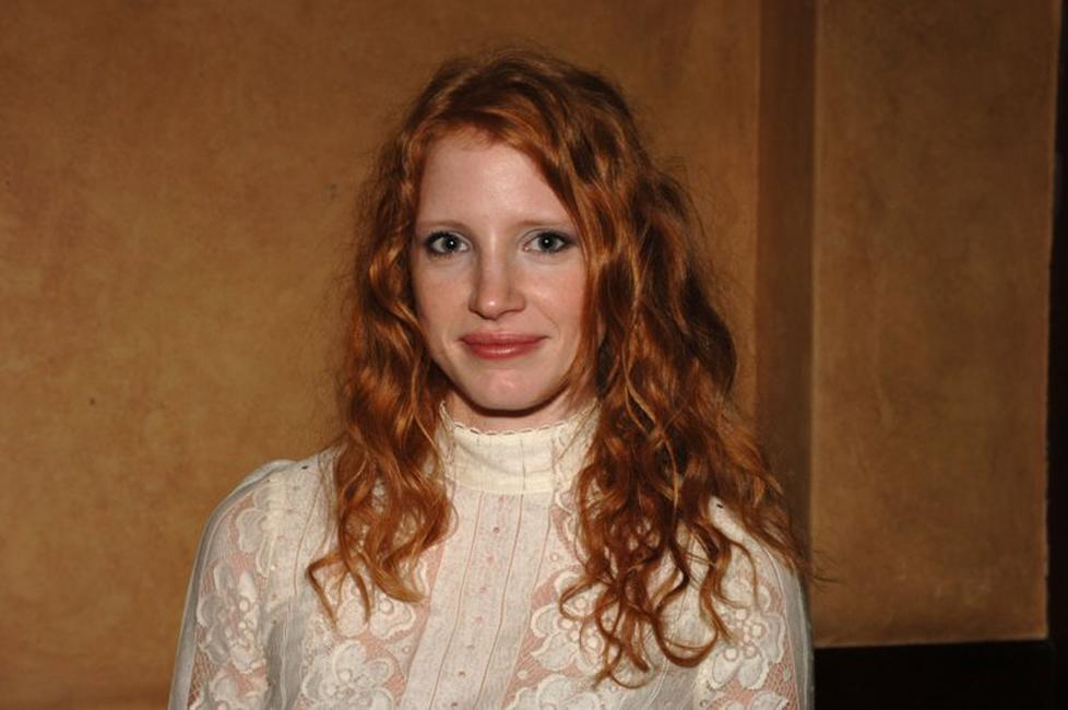 Jessica Chastain at the after party of Al Pacino Stars in Oscar Wilde's