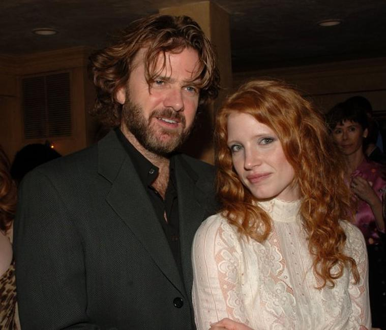 Kevin Anderson and Jessica Chastain at the after party of Al Pacino Stars in Oscar Wilde's