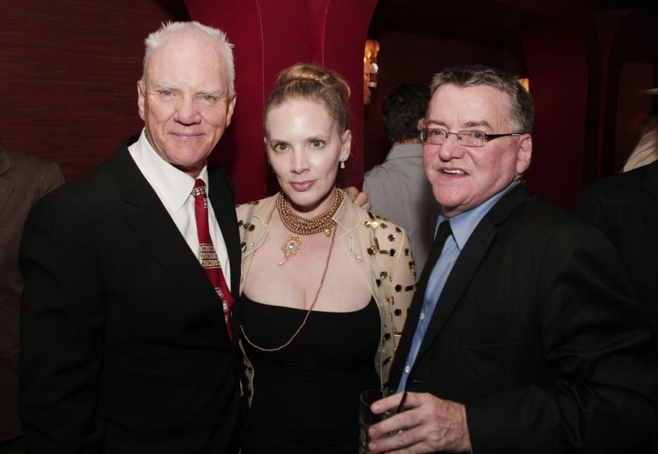 Malcolm McDowell, Kelley Kuhr and Andy Gould at the premiere of MGM's