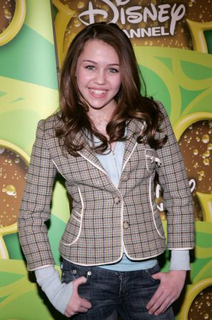 Miley Cyrus poses as Stars of the Disney Channel at the Splashlight Studios.