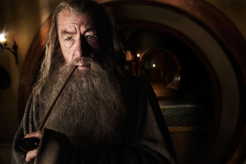 Ian McKellen as Gandalf in