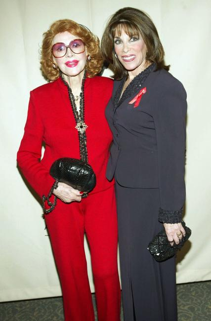 Jayne Meadows and Kate Linder at the Academy of Television Arts and Sciences Ribbon of Hope Celebration 2005.