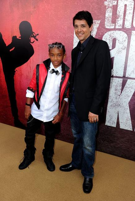 Jaden Smith and Ralph Macchio at the after party of the California premiere of