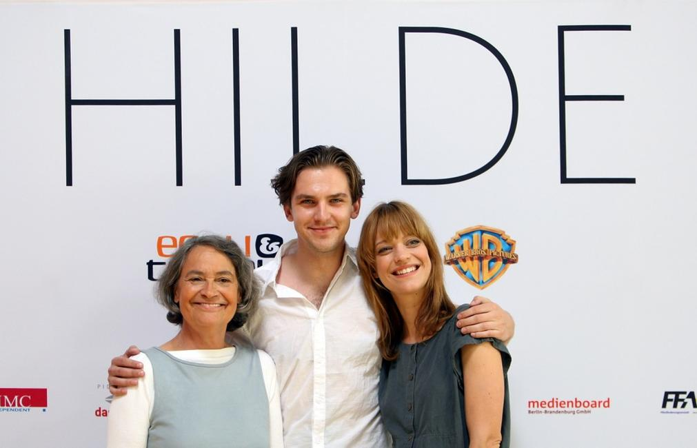 Monica Bleibtreu, Dan Stevens and Heike Makatsch at the photocall of