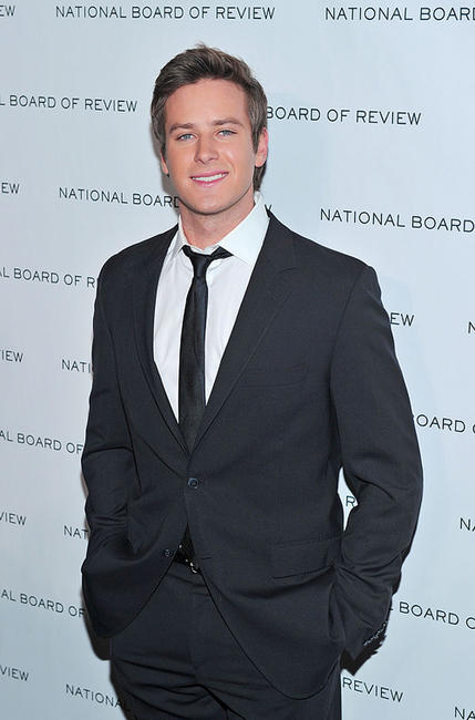 Armie Hammer Jr. at the 2011 National Board of Review of Motion Pictures Gala.