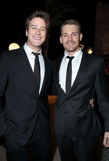 Armie Hammer Jr. and Josh Pence at the 22nd Annual Palm Springs International Film Festival Awards Gala.