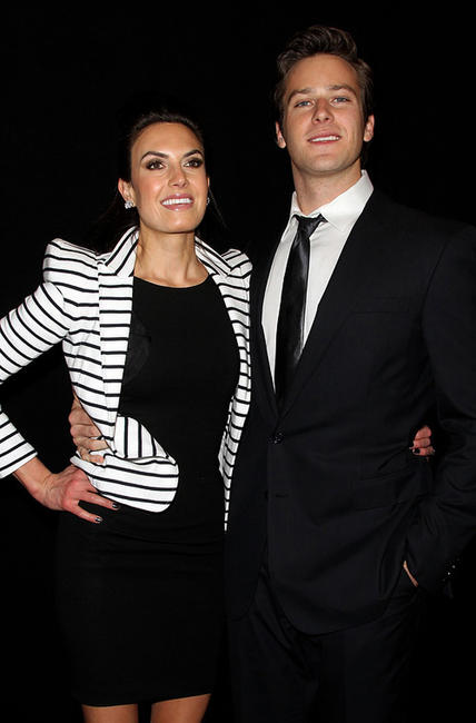 Elizabeth Chamber and Armie Hammer Jr. at the 36th Annual Los Angeles Film Critics Association Awards.