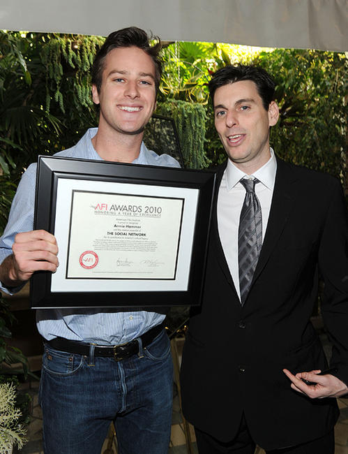 Armie Hammer Jr. and Marc Weinstock at the Eleventh Annual AFI Awards presentation.
