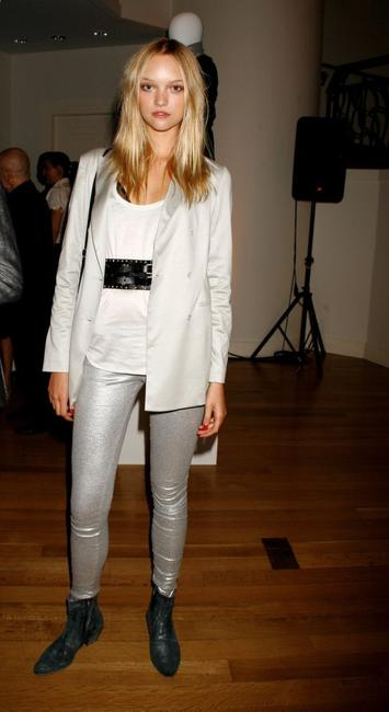 Gemma Ward at the Sixth Fashion Week Dinner party.