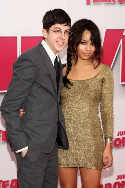 Christopher Mintz-Plasse and Zoe Kravitz at the New York premiere of