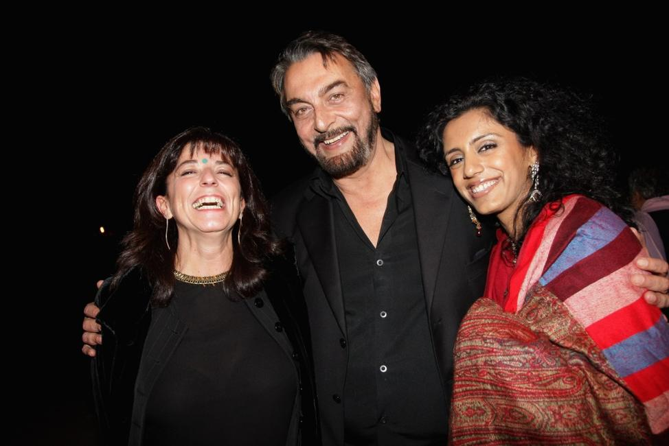 Kabir Bedi, Parveen Dusanj and Guest at the Golden Dreams party during the Rome Film Festival.