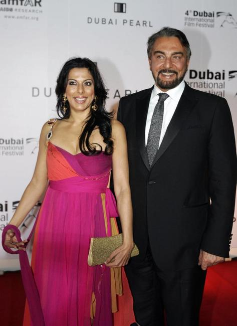 Pooja Bedi and her father Kabir Bedi at the Cinema Against AIDS event.