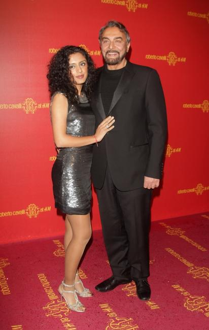 Parveen Dusanj and Kabir Bedi at the Roberto Cavalli at H and M collection launch party.