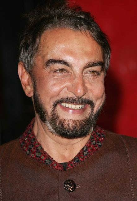 Kabir Bedi at the opening ceremony concert of the 2nd Rome Film Festival.