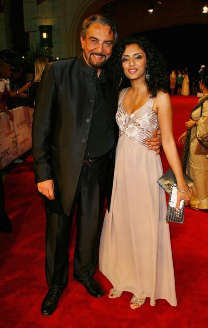 Kabir Bedi and Parveen Dusanj at the opening night gala premiere of