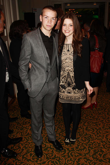 Will Poulter and Georgie Henley at the Jameson Empire Awards 2011 in England.