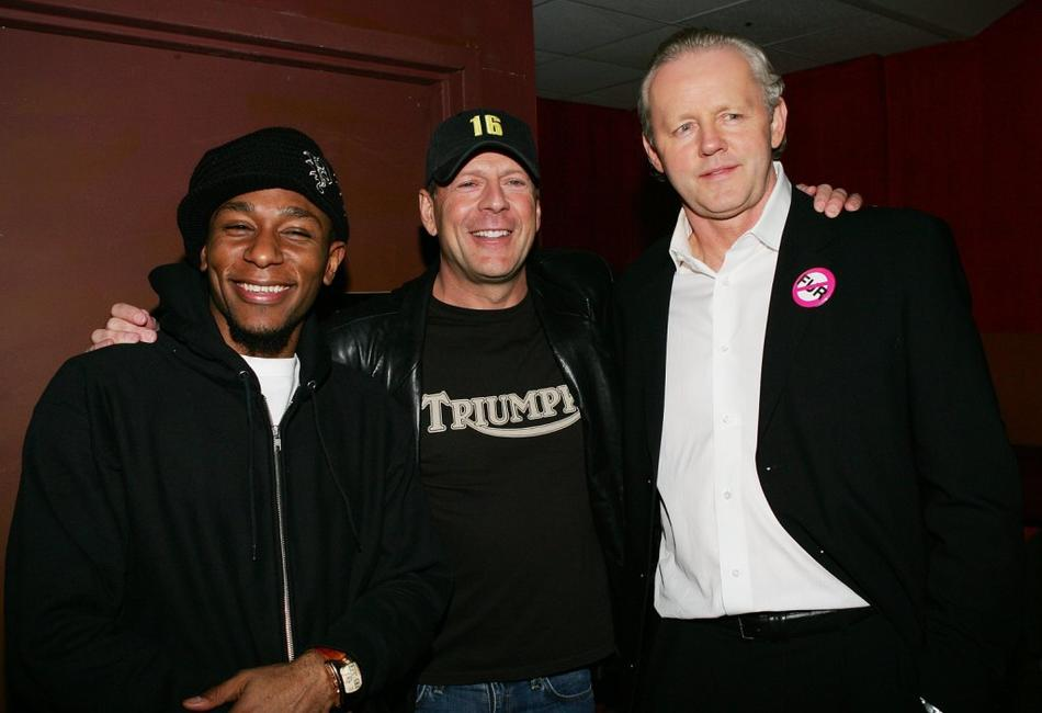Mos Def, Bruce Willis and David Morse at the after party of the premiere of