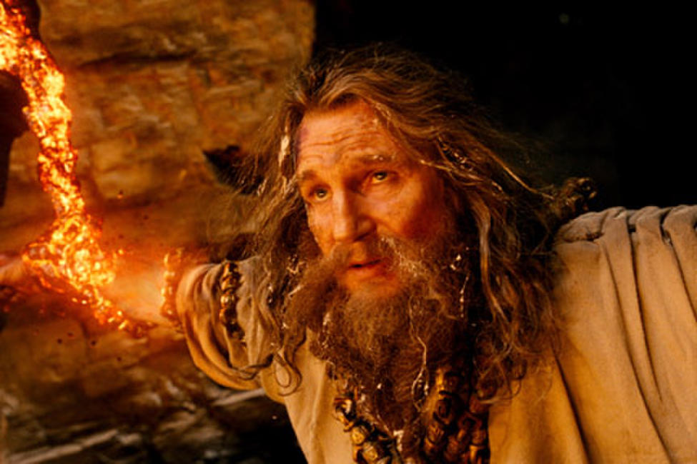 Liam Neeson as Zeus in ``Wrath of the Titans.''