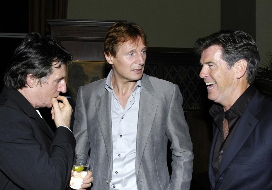 Liam Neeson, Gabriel Byrne and Pierce Brosnan at the 8th Annual Spirit of Ireland Benefit Gala.