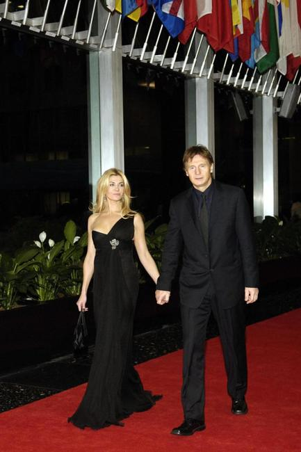 Liam Neeson and Natasha Richardson at the State Department for a dinner hosted by Secretary of State Condoleezza Rice, celebrating the Kennedy Center Honors recipients.