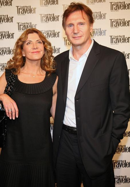 Liam Neeson and Natasha Richardson at the Conde Nast Traveler Readers' Choice Awards.