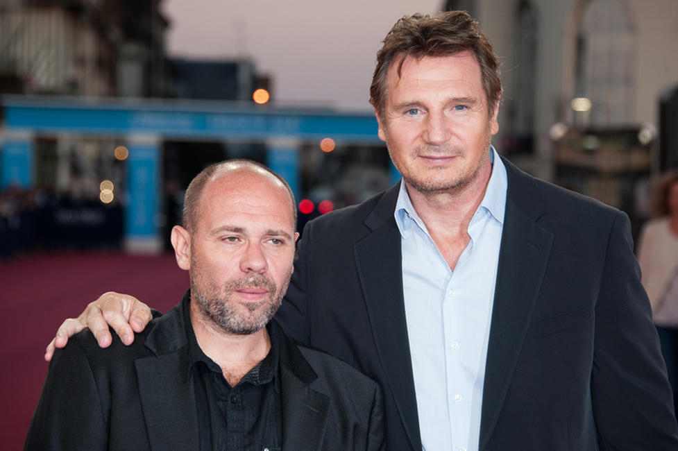 Director Olivier Megaton and Liam Neeson at the premiere of