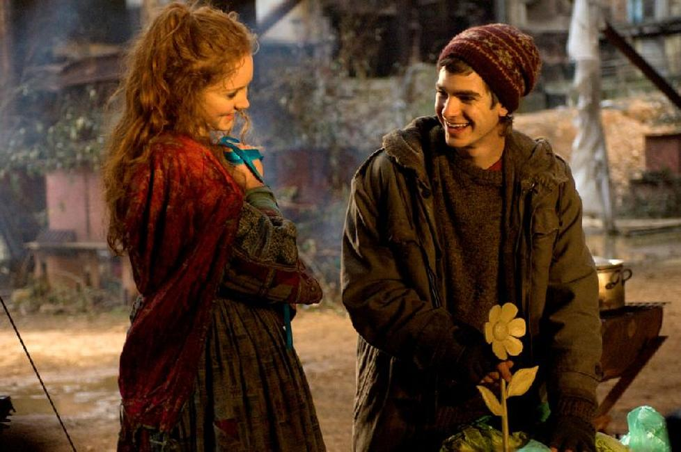 Lily Cole as Valentina and Andrew Garfield as Anton in